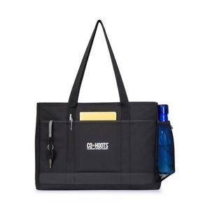 Black Mobile Office Computer Tote Bag